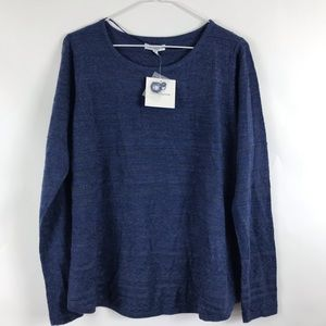 Croft Barrow Textured Crew Neck Pullover Sweater